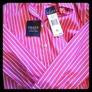 Chaps Long Button Up Shirt/Dress